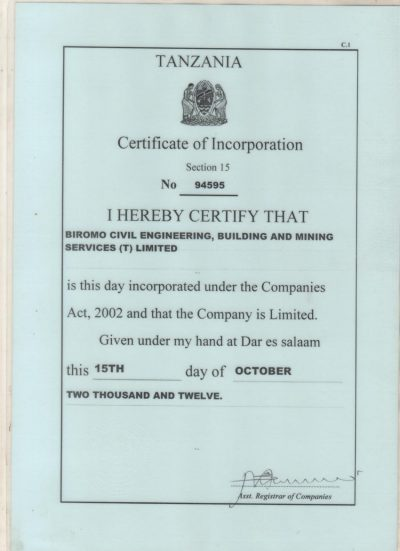 Biromo civil engineering,Building and mining services T company Ltd