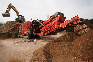 Terex Finlay I-100RS recycling