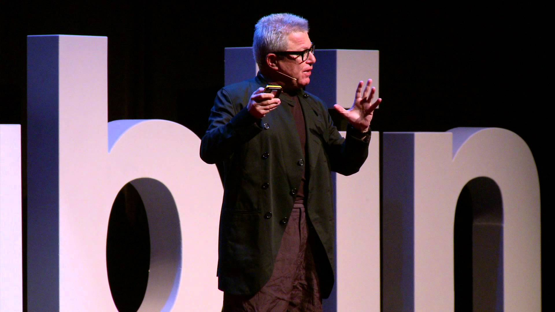 Daniel Libeskind giving a talk at tedx