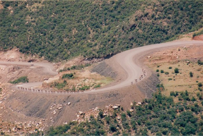 Abiadi-Tekeze road in Ethiopia