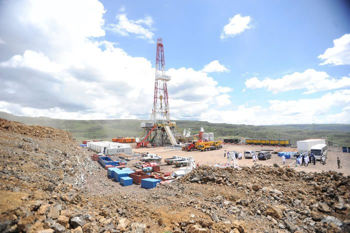 A geothermal drilling rig