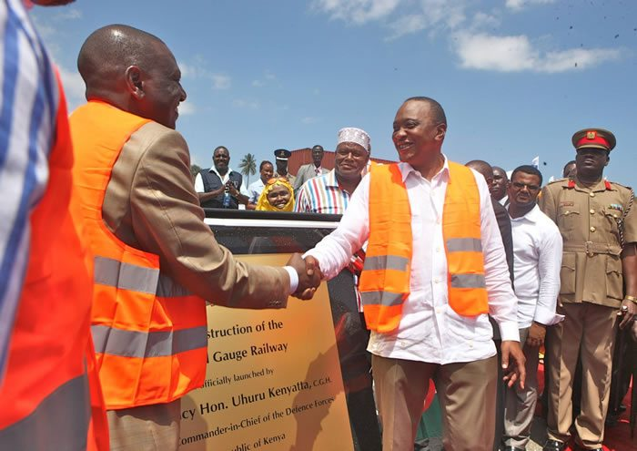 President Uhuru Kenyatta launching the Standard Gauge Railway Project