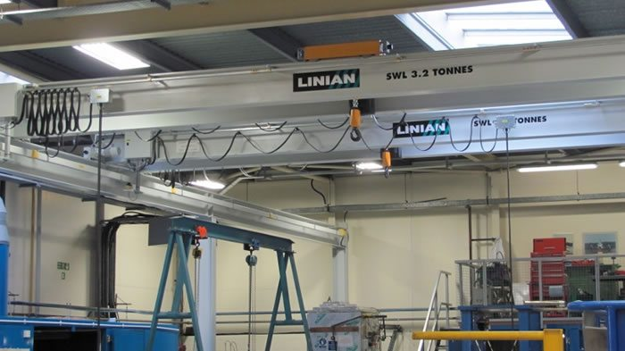 LINIAN Overhead Cranes in an Aerospace Factory
