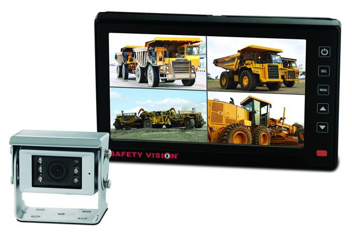 Safety Vision's SV-LED70WP4 and SV-690H Collision Avoidance Camera system