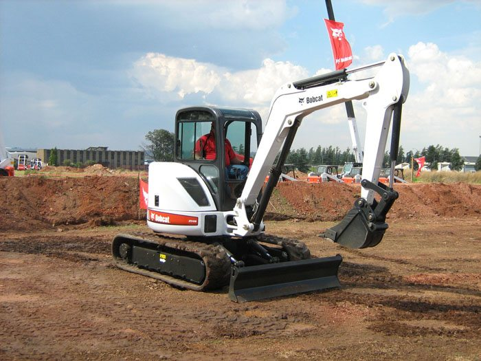 Bobcat skid steers mini-excavators