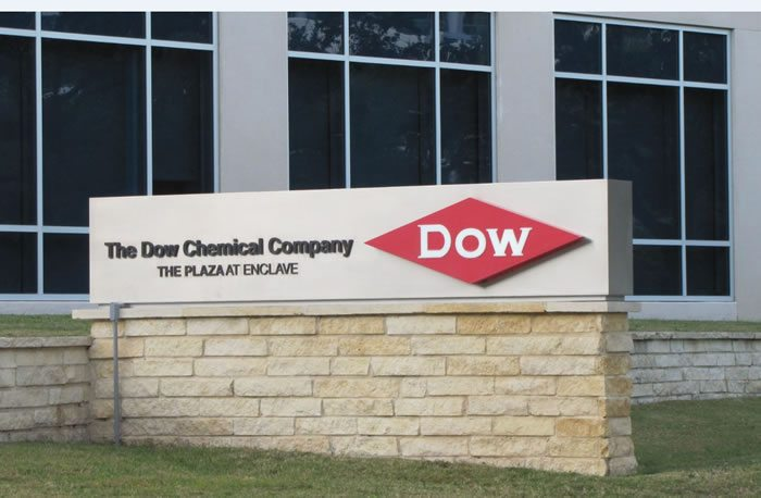 Dow-Chemical-Company-Sign-at-The-Plaza-at-Enclave-office-location-Union-Carbide