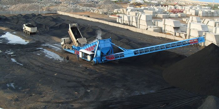 Samson Stormajor radial boom stacker - coal2