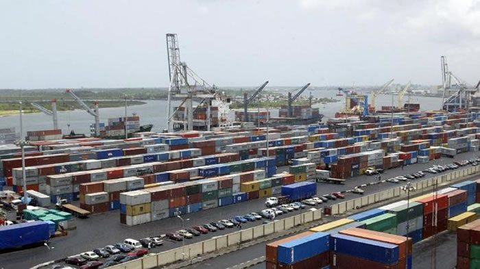 Some containers at the Apapa