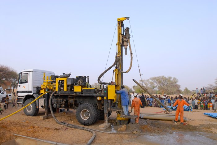 Water-borehole-drilling
