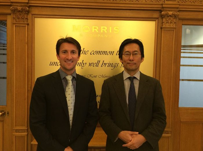 Chris Morris Chief Executive Morris Site Machinery andKeiji Takigawa-Pr