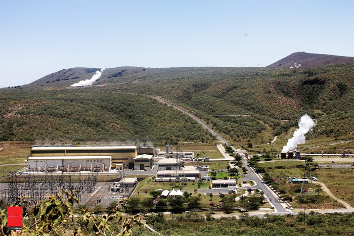 Olkaria geothermal power plant Kenya