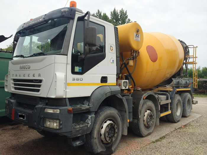 One of the concrete mixers sold by the company