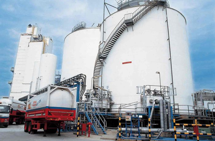 Gas production facility