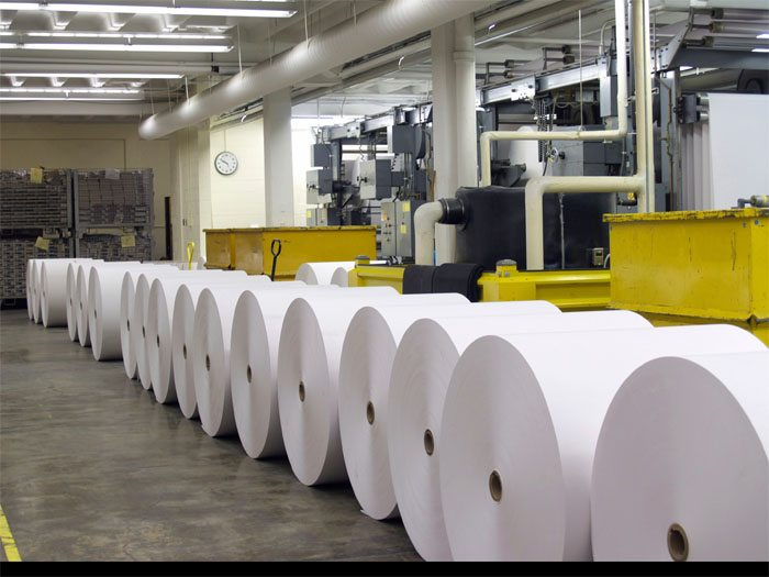 inside a paper factory