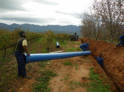 All pipes require large volumes of water to conduct a field pressure test