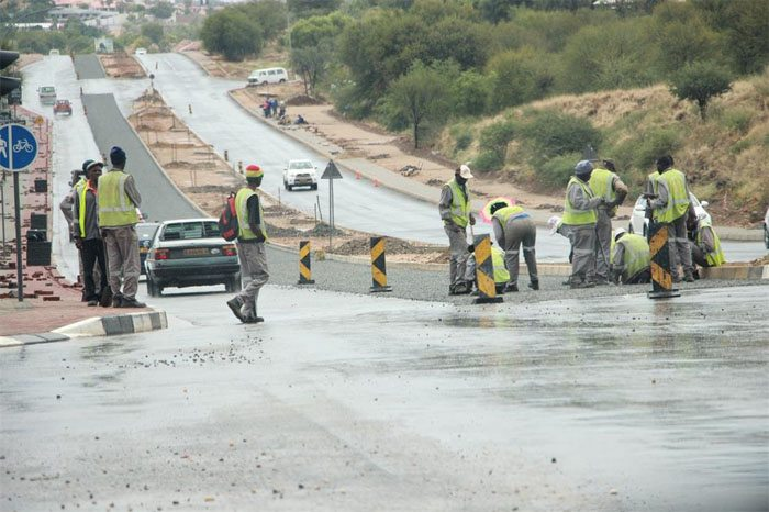 Namibia road construction