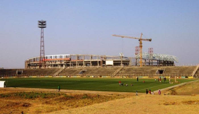 Construction works at Ndola National Stadium