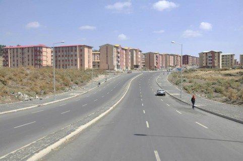 Condominium housing schemes road construction Ethiopia