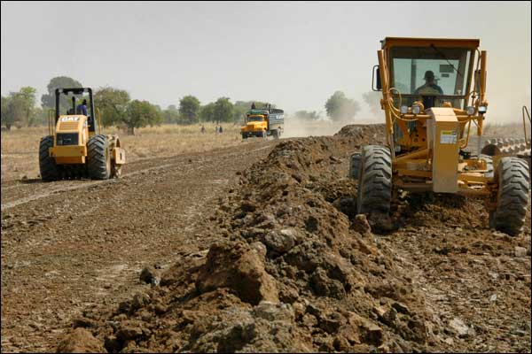 Gambia road construction