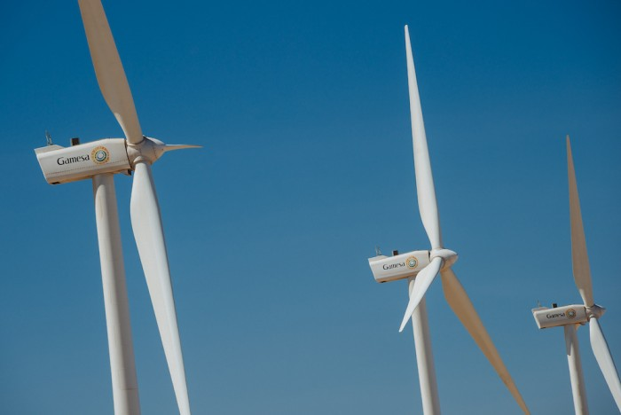 Gamesa wind power plant