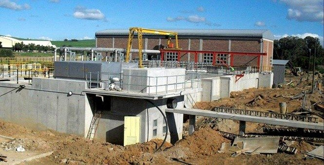 Malmesbury Wastewater treatment plant in South Africa