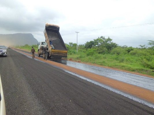 Tarring-of-abondoned-Adaklu-Road
