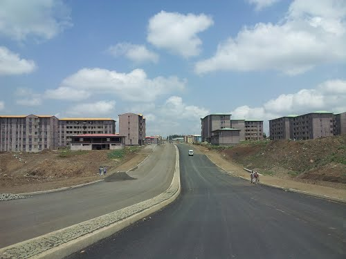 condominium road construction Ethiopia