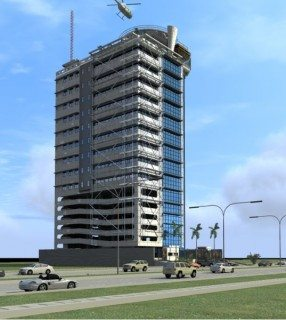 Kanti Towers, also designed by the architectural firm