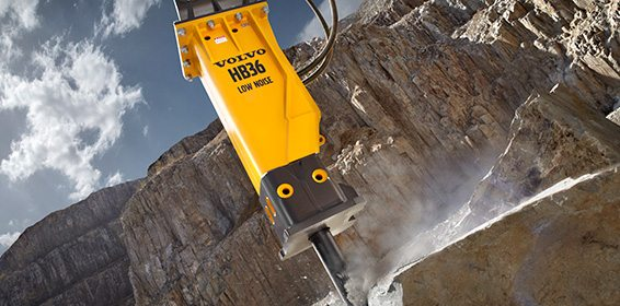 Volvo serves Africa with hydraulic breakers for tracked excavator in
