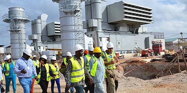 The Kinyerezi 1 electricity plant which is a dual-gas and jet fuel-plant is on its way to completion