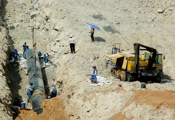 Botswana water pipeline construction project