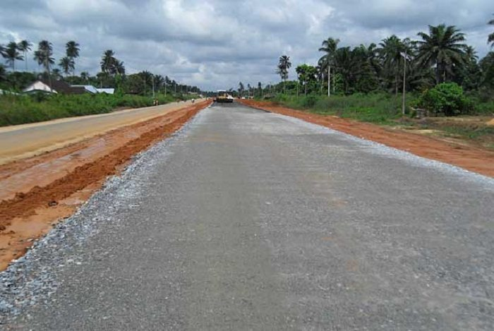 East-West Road section