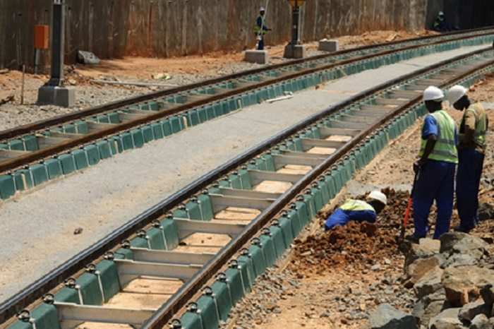 construction of a railway line in Zambia