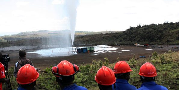 construction of a geothermal power plant in Kenya