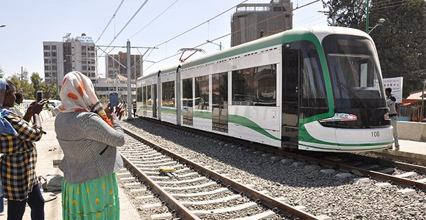 Newly constructed light rail system in Ethiopia starts ...