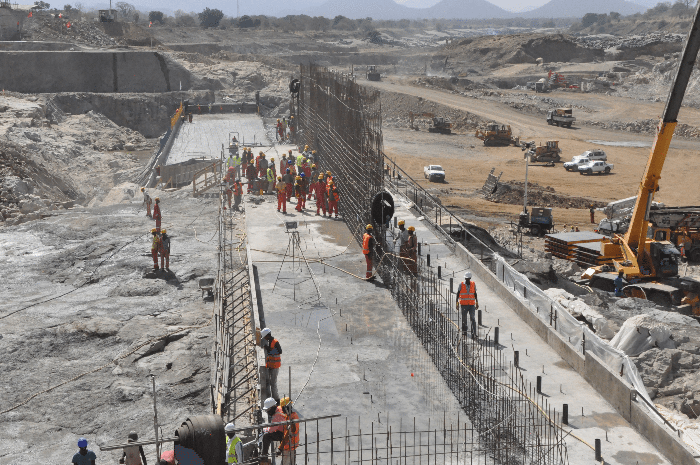 Construction of Renaissance dam in Ethiopia in good course
