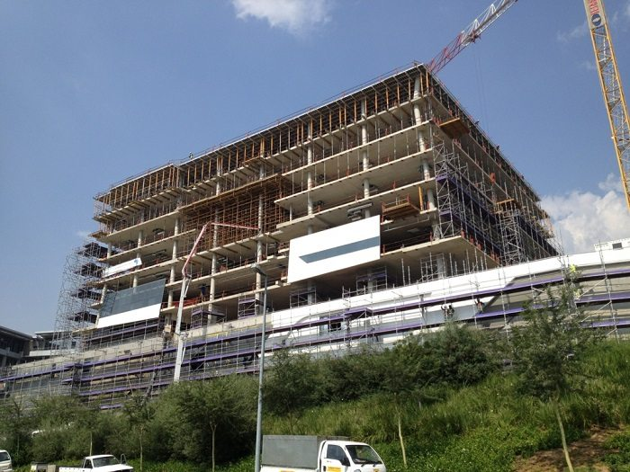New Office Building In South Africa Under Construction