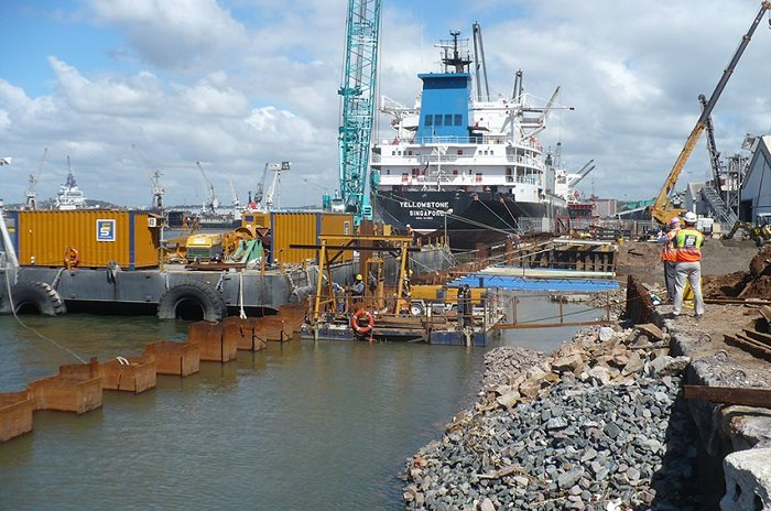 Reconstruction of Maydon Wharf at Port of Durban in South Africa begins