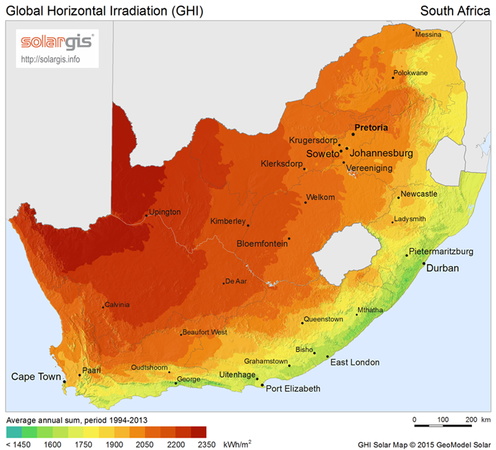 The sustainable solutions for energy production in South Africa