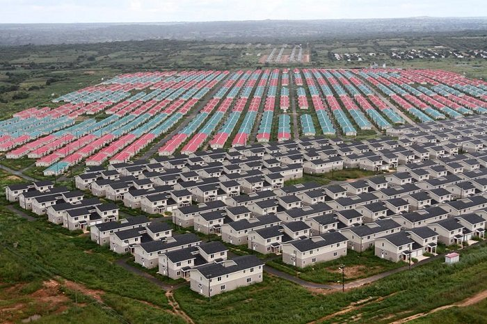 Chinese firm begins the construction of police houses in Zambia