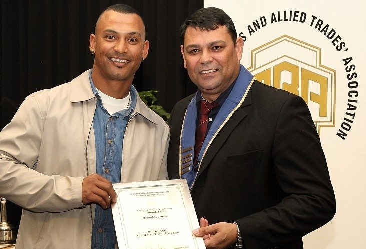 Master Builders Association awards apprentice in South Africa