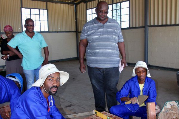 Cornubia residents in South Africa trained on bricklaying