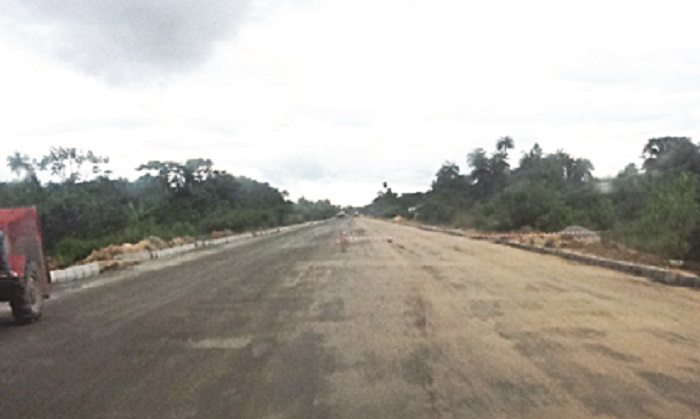 Construction work on major road in Nigeria halts