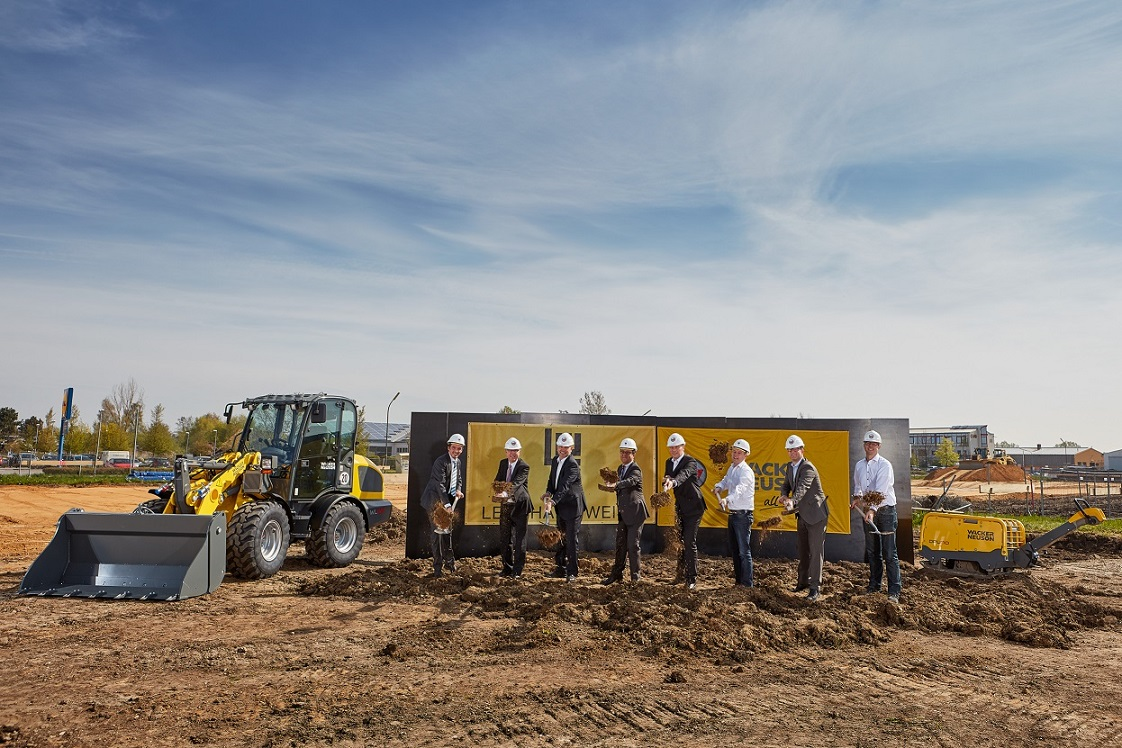 Construction of new building gets underway in Reichertshofen, Germany