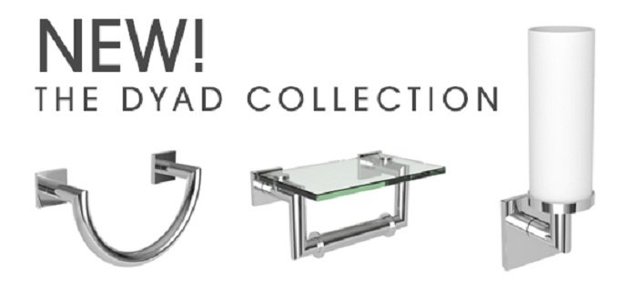 GINGER® is proud to introduce the Dyad collection to its selection of luxury bath accessories.