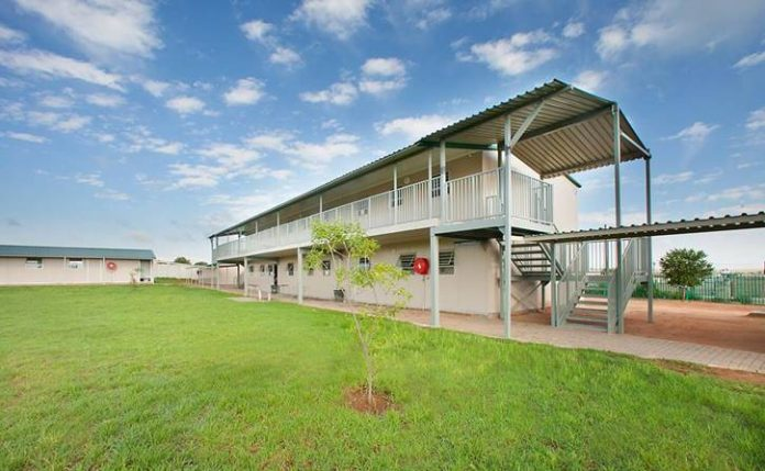 South African schools get mobile double-storey buildings