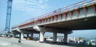 Construction works on reinforced concrete flyover in Nigeria on track