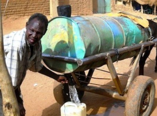 Protest against water disconnections in Khartoum