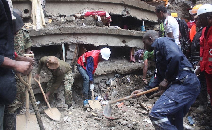 Building In Kenya Collapses Shortly After Evacuation