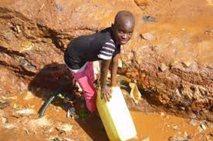 Informal settlers in Namibia drinking unsafe water
